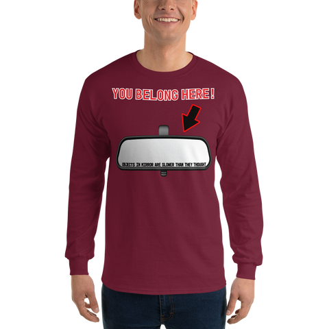 Objects In Mirror Long Sleeve Shirt