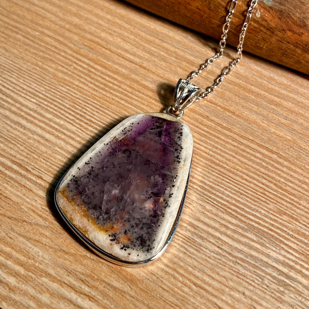 Trapiche Amethyst Pendant Sterling Silver - kaiasparksdesigns
