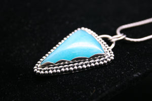 Gem Blue Brazilian Amazonite 925 sterling silver pendant P0156 - kaiasparksdesigns