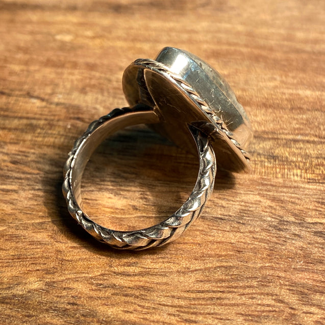 Pyrite In Quartz Ring - kaiasparksdesigns
