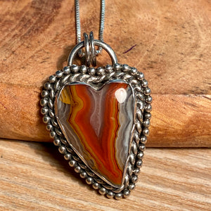 Moroccan Agate Pendant Sterling Silver - kaiasparksdesigns