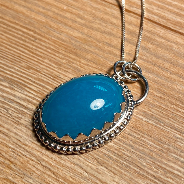 Amazonite Pendant Sterling Silver - kaiasparksdesigns