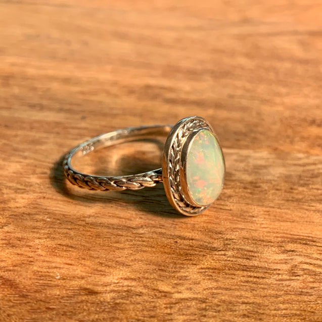 Ethiopian Welo Opal Ring - kaiasparksdesigns