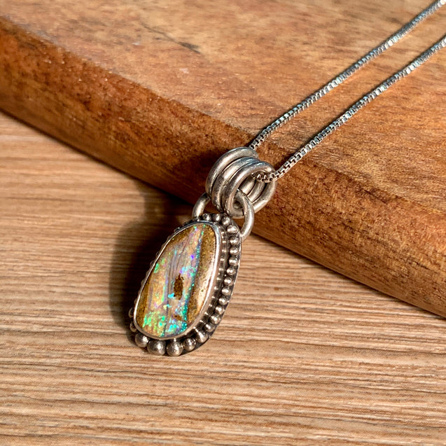 Crystal Pipe Opal Pendant - kaiasparksdesigns