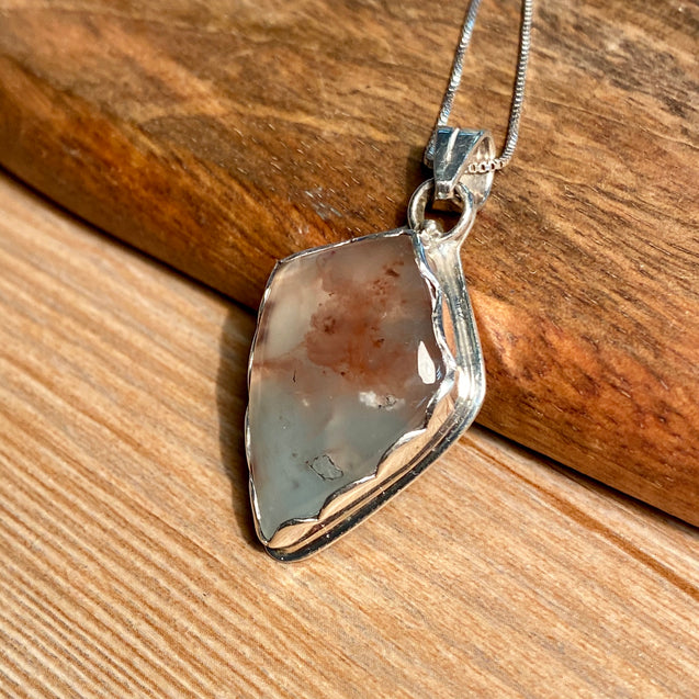 Aquaprase Pendant Sterling Silver - kaiasparksdesigns
