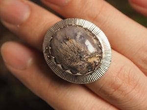 Amethyst Plume Agate Ring - kaiasparksdesigns