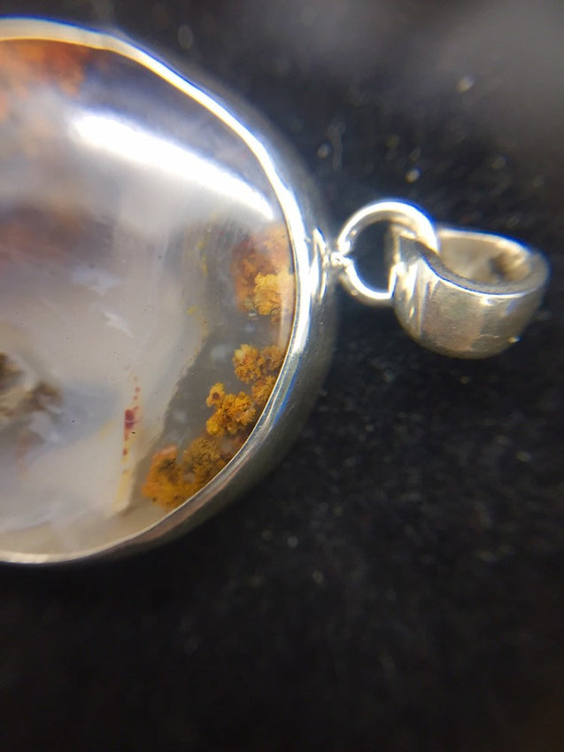 Moroccan Plume Agate Pendant - kaiasparksdesigns