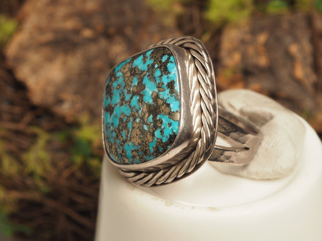 Pyrite Turquoise Ring - kaiasparksdesigns