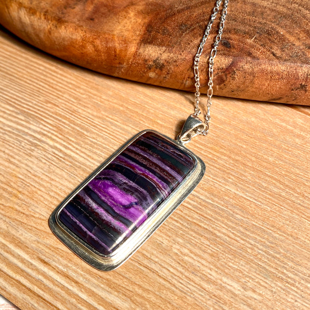 Sugilite Pendant Sterling Silver - kaiasparksdesigns