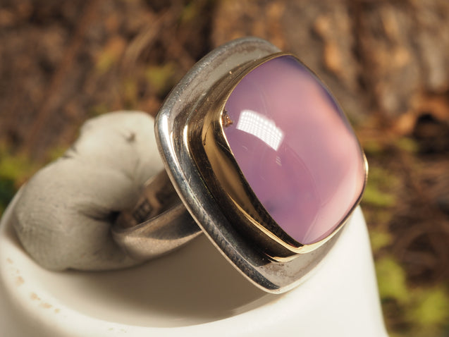 18k gold Chalcedony Ring - kaiasparksdesigns