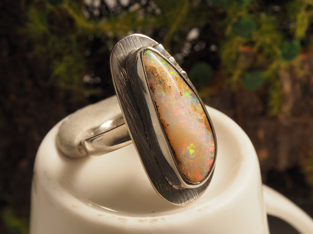 Crystal Pipe Opal Ring - kaiasparksdesigns