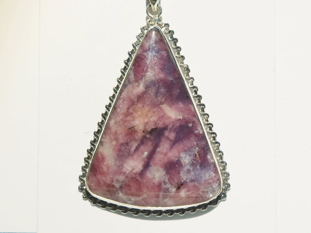 Pink Tourmaline and Lepidolite in Quartz Pendant - kaiasparksdesigns