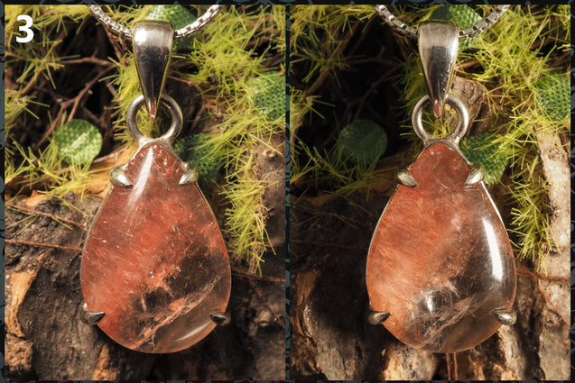 Kazakhstan Strawberry Quartz pendant - kaiasparksdesigns