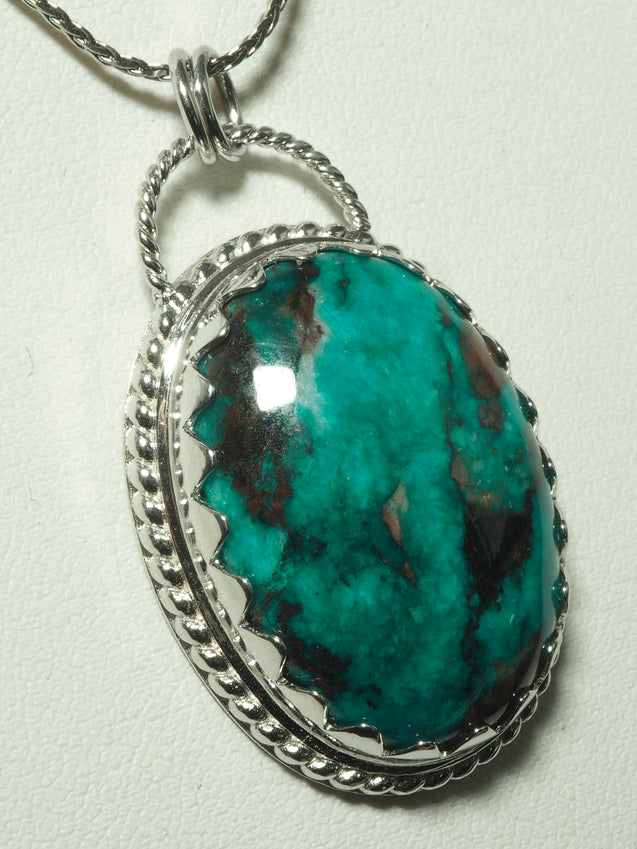 Dioptase Pendant Sterling Silver - kaiasparksdesigns