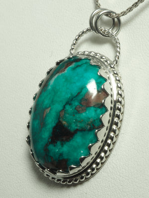 Rare green Dioptase 925 sterling silver ring pendant P0262 - kaiasparksdesigns