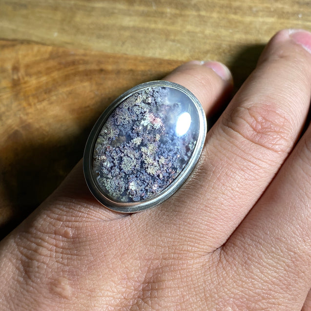 Indonesian Moss Agate Ring - kaiasparksdesigns