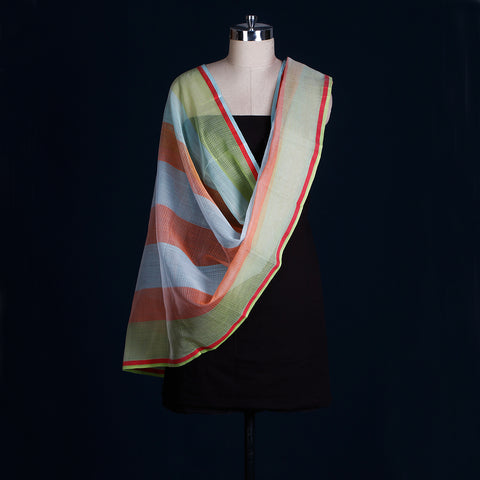 Pure Handwoven Kota Doria Silk Cotton Dupattas by Hasina Banu
