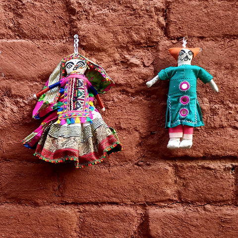 Traditional Kutchi Embroidery Handmade Dolls