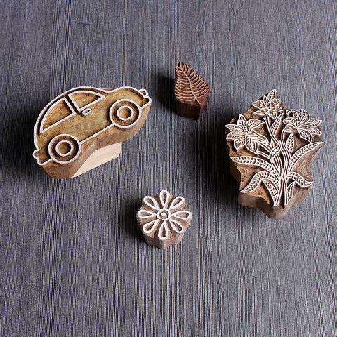 Hand-carved Rohida Wooden Blocks by Bindaas