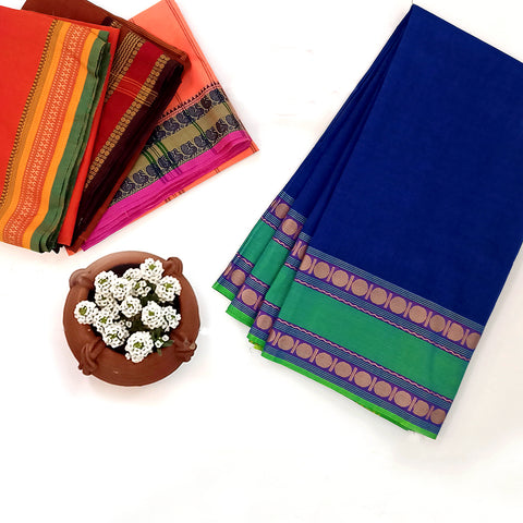 Chettinad Kandangi & Kanchipuram Pure Cotton Sarees from Tamil Nadu