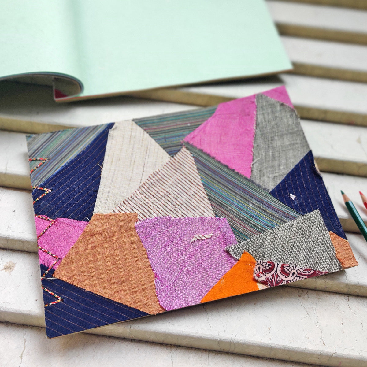 Patchwork Fabric Cover Handmade Notebooks