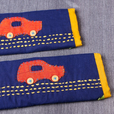 Handmade Fridge Handle / Seat Belt Covers by Jugaad
