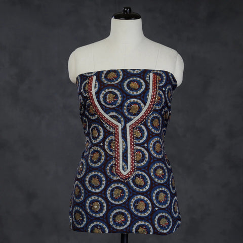 Bagru Block Printed Silk & Cotton Dress Materials