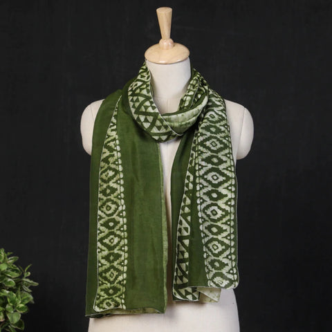 Hand Batik Printed Silk & Cotton Stoles