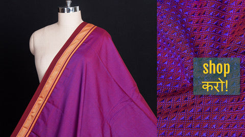 Traditional Pure Handloom Cotton Khun Fabrics from Maharashtra