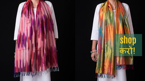 Traditional Pure Banarasi Handwoven Silk Stoles by Maqbul Hasan