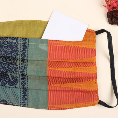 New! Jacquard, Kanchipuram, Hand Block & Jaipur Printed Face Covers