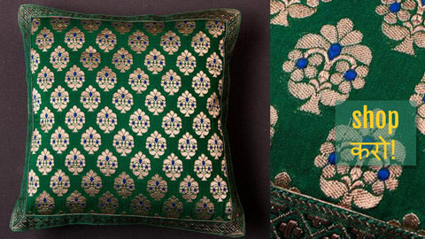 Banarasi Silk Cushion Covers & Table Runners by Maqbul Hasan
