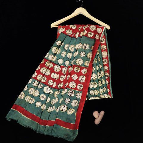 Bindaas Natural Dyed Block Print Sarees in Cotton