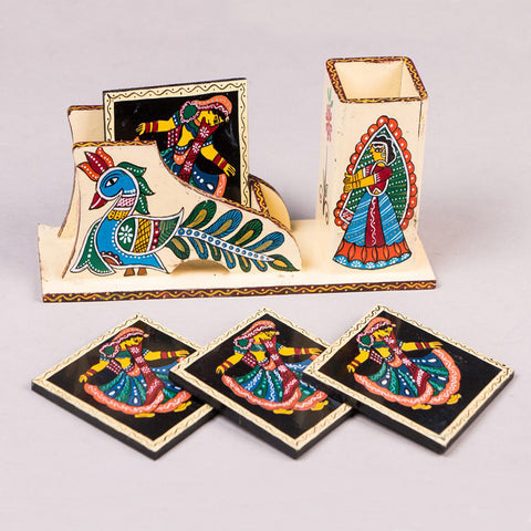 Tikuli Art Work Necklace Sets, Earrings & Coasters