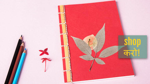 Natural Flower Art Work Handmade Stationery by Shradhanjali