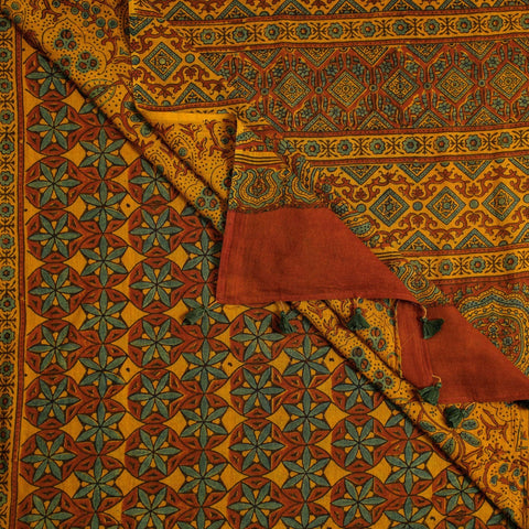 Ajrakh Print Silk and Cotton Sarees