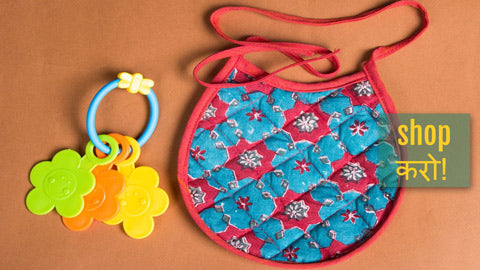 Printed Cotton fabric Baby Bibs by Jalpari