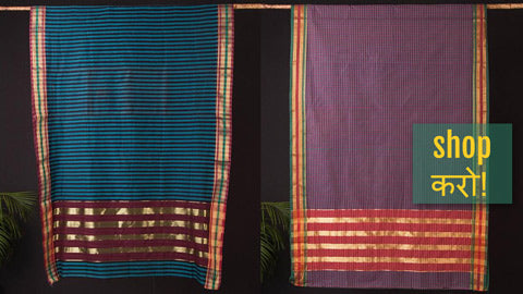 Traditional Nagpuri Handloom Cotton Sarees by Raju Sonkusare