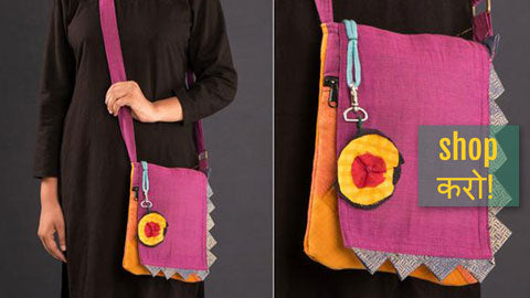❃ Kerala Mural Painted Slings & Clutches by Sujith ❃