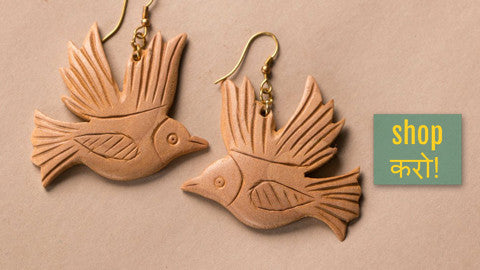 ❋ Hand Carved Wooden Juda Sticks & Earrings ❋