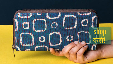 Handcrafted Block Printed Fabric Clutch Wallets