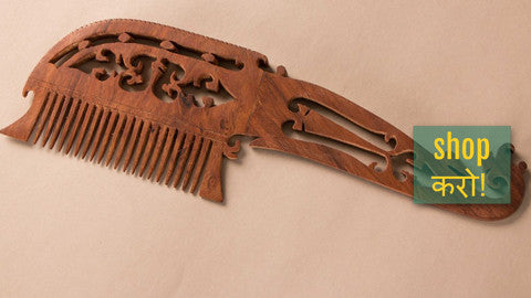 ❄ Hand Carved Sheesham Wood Combs ❄