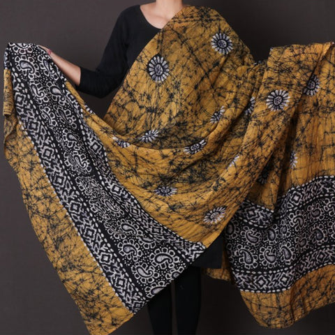 Hand Batik Printed Pure Cotton Dupattas by Wasim