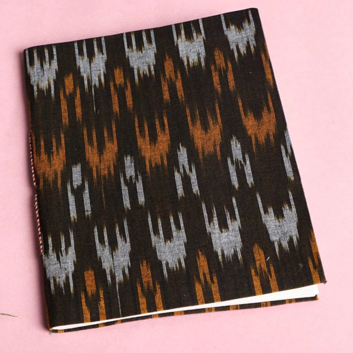 Ikat Fabric Cover Handmade Diaries