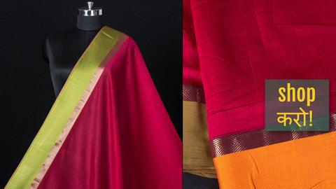Exclusive! Maheshwari Silk Cotton Pure Handloom Fabrics by Gulrez Ansari
