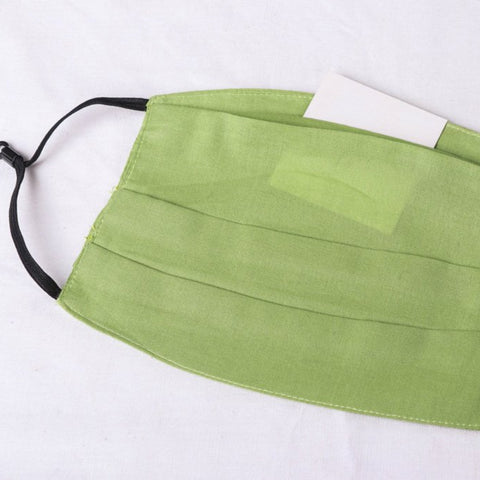 New! Plain Cotton Handloom Fabric 3 Layer Pleated Face Covers