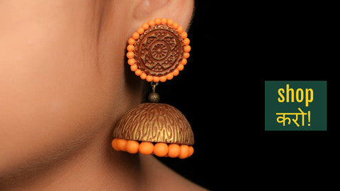 ✩ Handcrafted Polymer Clay Earrings From Koral Tree by Suguna ✩