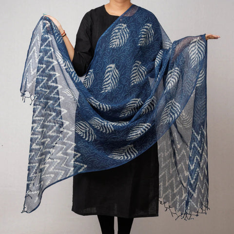 Hand Block Printed Silk & Cotton Dupattas
