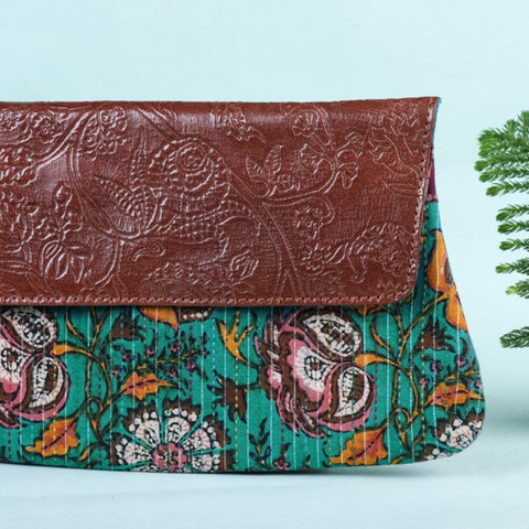 Handcrafted Clutches with Handpainted & Embossed Leather Flap by Asalkaar
