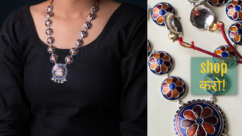 Handcrafted Paka Meenakari Nosepins, Bracelets, Buttons, Necklaces & Payal